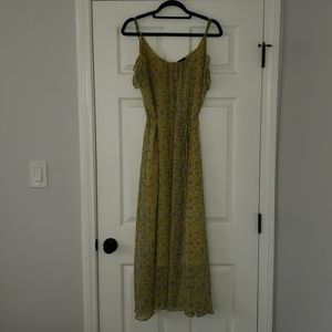 Who What Wear Yellow Floral maxi dress